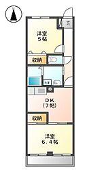 若鶴ハウス[2階]の間取り