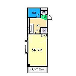 メゾン七宝[4階]の間取り