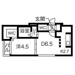 mon style大通東[207号室]の間取り