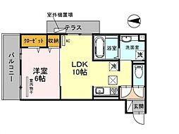 仮称)西野小柳町D-room[303号室号室]の間取り