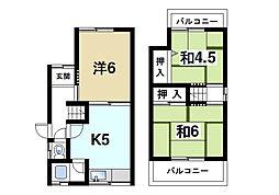[一戸建] 奈良県奈良市南紀寺町4丁目 の賃貸【/】の間取り