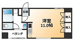 Flat北堀江[5階]の間取り