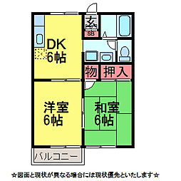 千葉県佐倉市臼井田の賃貸アパートの間取り