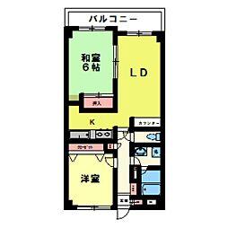 エスポワール松戸元山II[404号室]の間取り