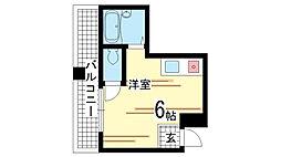 兵庫県神戸市兵庫区上三条町の賃貸マンションの間取り