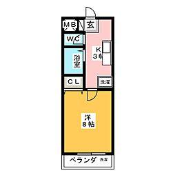 メゾン・モナミ[1階]の間取り