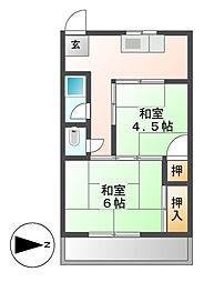 栄ビル[4階]の間取り