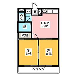 エステートピアANNEXIII[2階]の間取り