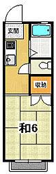 菊池ハイツ[203号室]の間取り