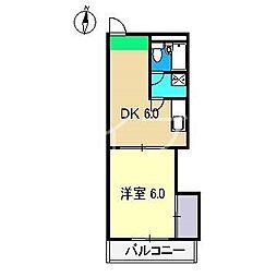 ドルフ高須[2階]の間取り