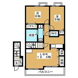 グランツハウスII[2階]の間取り