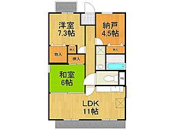 友伸ハウス[3階]の間取り