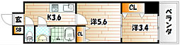 デザイナープリンセス77[3階]の間取り