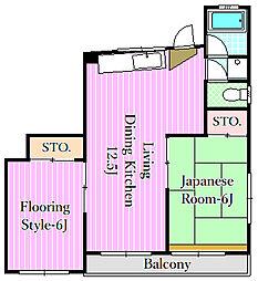 メゾンテルピア[2階]の間取り