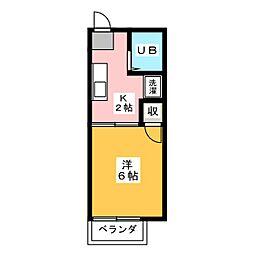 ジョニーズクラブ四ッ谷[2階]の間取り