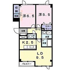 北海道札幌市清田区平岡四条7丁目の賃貸アパートの間取り