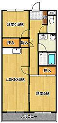 兵庫県神戸市北区甲栄台4丁目の賃貸マンションの間取り