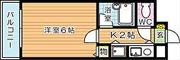 ロイヤルシャトー桃園[6階]の間取り