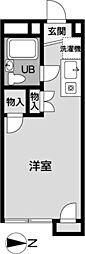 メゾン椚田[207号室]の間取り