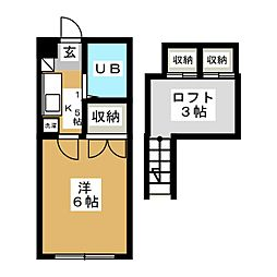 ロフティルブラン[1階]の間取り