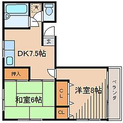エリーズハウス[3階]の間取り