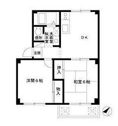 ニッコー狛江マンション[4階]の間取り
