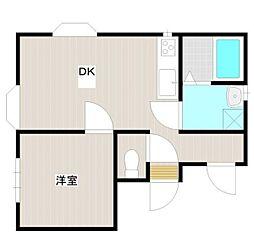 神奈川県綾瀬市大上5丁目の賃貸アパートの間取り