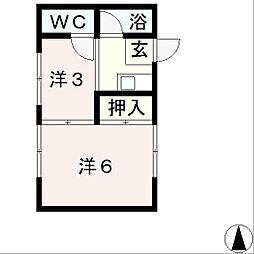 滋賀県大津市光が丘町の賃貸アパートの間取り