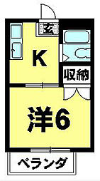 ウイステリアコーポ[2階]の間取り
