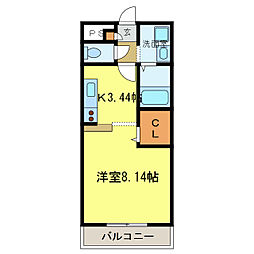 南海高野線 河内長野駅へ16分 アンプルールクラージュサピエ[202号室]の間取り