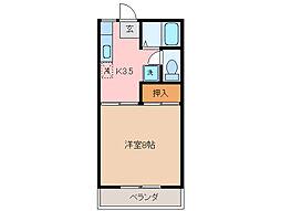 アパート サイセリア[2階]の間取り