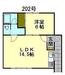 メゾン稲穂[2階]の間取り
