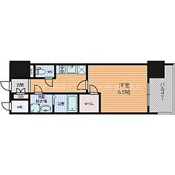 エスプレイス大阪城サウスコンフォート 7階1Kの間取り