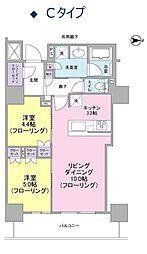 ブランズタワー・ウェリス心斎橋SOUTH[13階]の間取り