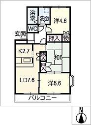 愛知県名古屋市西区比良1丁目の賃貸マンションの間取り