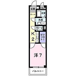 愛知県名古屋市南区松池町2丁目の賃貸マンションの間取り