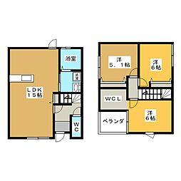 [一戸建] 岐阜県各務原市那加浜見町1丁目 の賃貸【/】の間取り