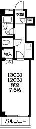アムールISHIZUKA(野田市)[303号室号室]の間取り