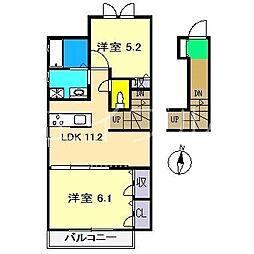 シャーメゾンチェリー[2階]の間取り