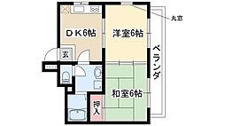 中砂ハイツ[1階]の間取り