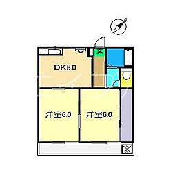 島田第二マンション[2階]の間取り