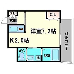 アクアコートII[6階]の間取り