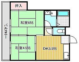カナイハイツ[3階]の間取り