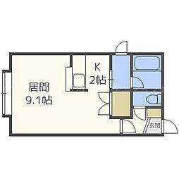 コーポアイ[2階]の間取り