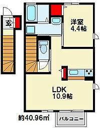 トレス横代館[2階]の間取り