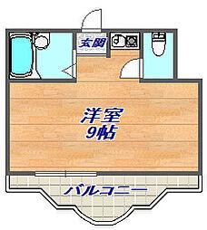 三景マンション[108号室]の間取り