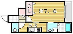 大阪府摂津市東一津屋の賃貸マンションの間取り