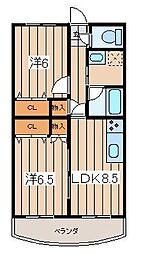 KT ドゥフォレスト1[303号室]の間取り