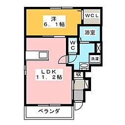 クレールII[1階]の間取り