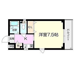エクシード園田II[3階]の間取り